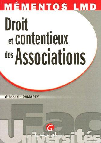 Droit et contentieux des Associations par Stéphanie Damarey