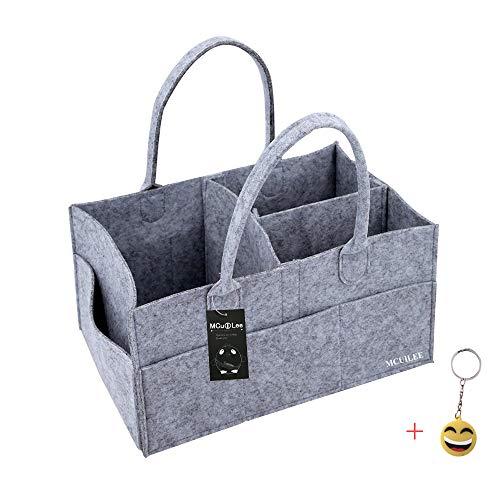 MCUILEE Pieghevoli in Feltro Cestino,Organizzatore, Storage Bin Nursery Borse Diaper Caddy per Home,Office,Il Viaggio