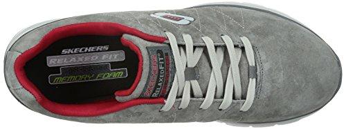 Skechers - Skech-FlexNatural Vigor, Sneaker Uomo Grigio (CCRD)