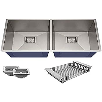 Hafele Stainless Steel Double Bowl With Drain Board Sink