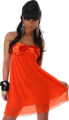 Jela London Robe courte de cocktail Minirobe Bandeau Taille unique - Femme Orange