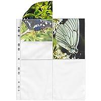 mashpaper 75624 - Funda con capacidad para 8 fotos (10 x 15 cm, formato vertical, 100 unidades), color blanco