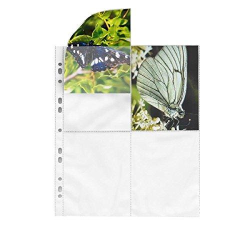 fotohuellen 10x15 100 Fotohüllen weiß 10x15 cm Hochformat für 2x4 Fotos 75624