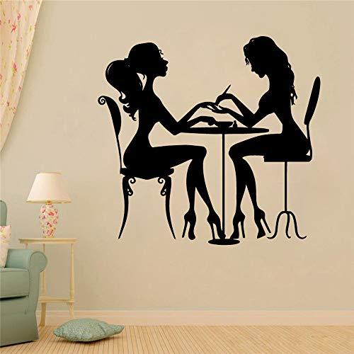 nagel schönheitssalon vinyl abnehmbaren wandsticker - wand dekoration kunst wandtattoo nagelstudios deko - accessoires 58x61cm