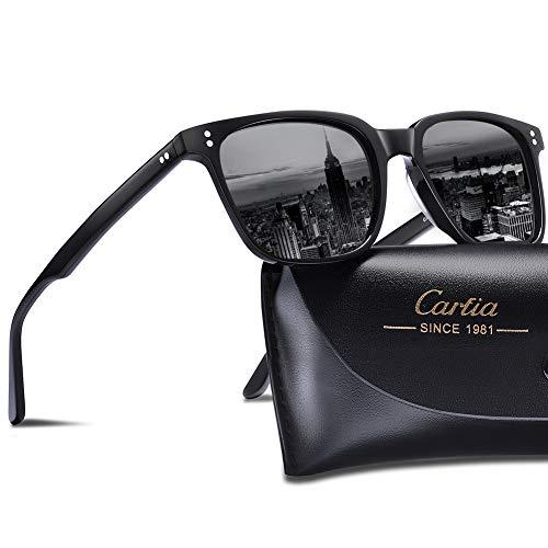Carfia Retro Damen Sonnenbrille Outdoor Polarisierte Sonnenbrille UV 400 Schutz für Fahren Angeln Reisen