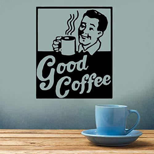 Kaffee Zeichen Dekor, Küche, Restaurant Dekor, Espressotasse, Vintage, Tasse Joe, Vinyl Aufkleber Selbstklebende Tapete ()