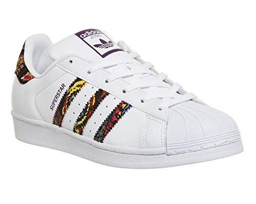 adidas Superstar 80s W Silver White White Blanc Pourpre