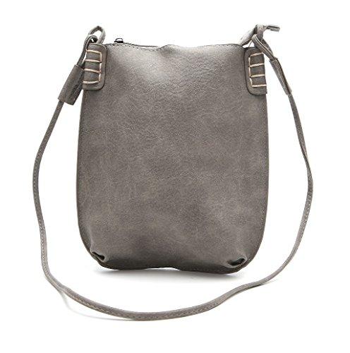 Dairyshop Sacchetti di Hobo del messaggero delle donne di modo della borsa della signora di modo (Marrone chiaro) Grigio