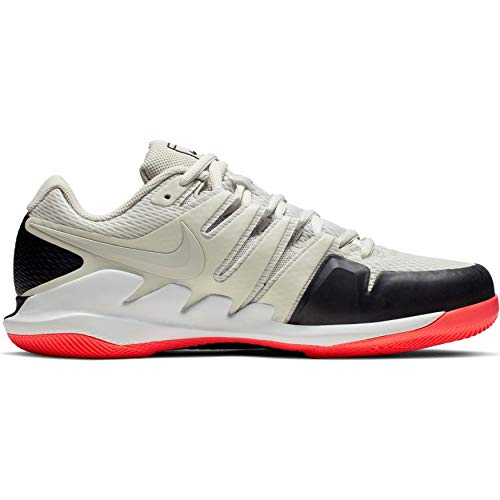 Nike Air Zoom Vapor X HC, Scarpe da Tennis Uomo, Multicolore Light Bone/Black/Hot Lava 7, 43 EU