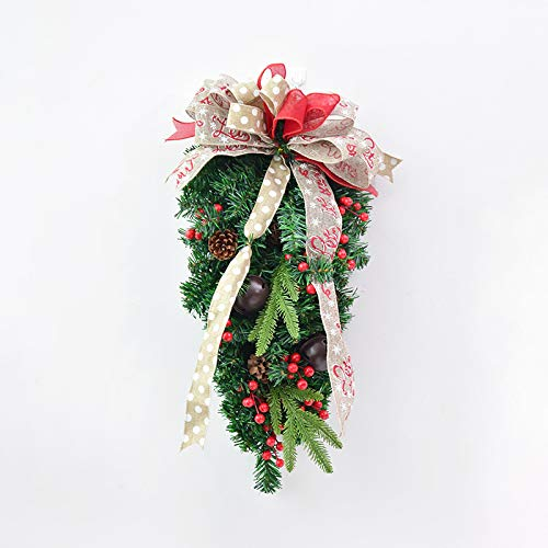 Joycetan addobbi natalizi appesi a testa in giù sugli alberi, campane di canne, ciondoli di frutta, vetrine, porte e finestre