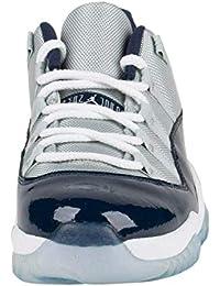 a88db53ea31d9f Nike Men s Air Jordan 11 Retro Low Georgetown Grey Leather Sneaker 10.5 D(M)