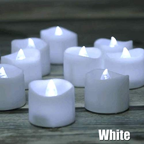 LED Kerzen IMAGE mit Timer-Funktion 6 Stunden an 18 Stunden aus,12 Stück Elektrische Teelichter mit Rosenblättern, Kaltes Weiß