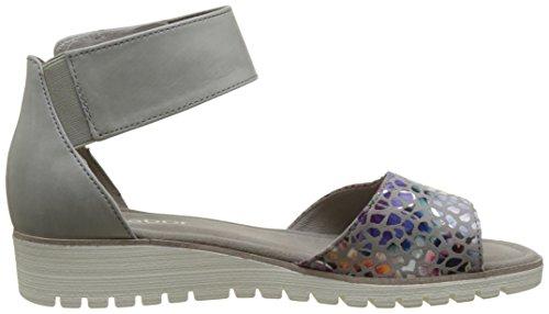 Gabor Shoes Fashion, Sandali con Zeppa Donna Grigio (stone/delfin 41)