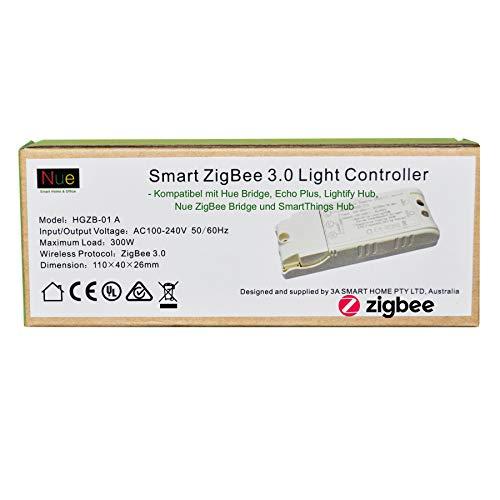 230V Smart ZigBee Lichtschalter in der Decke oder in der Wand installiert für Echo Plus, Philips Hue Bridge, Samsung SmartThings, Osram Lightify ZigBee Hub zur Steuerung normaler Lichter mit Alexa Google Assistant Voice Control (Ändern Sie Wand Licht Schalter)