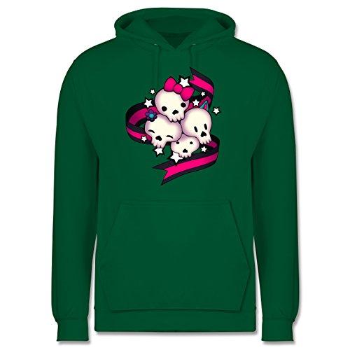 Statement Shirts - Cute Skulls - Männer Premium Kapuzenpullover / Hoodie Grün