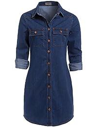 1cb59bfe62f7 SS7 neuf rétro Bleu Denim Robe Chemise Tailles 34 - 14