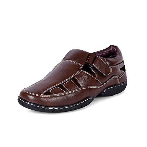 Bacca Bucci Men's Brown PU Sandals - 6 UK