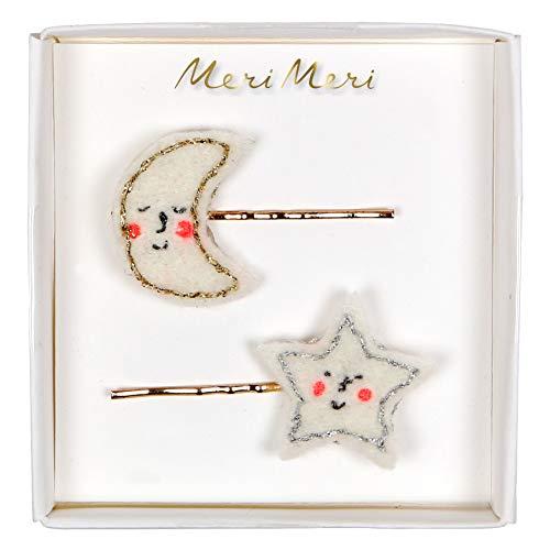 Meri Meri Holiday Haarspangen Happy Moon & Star