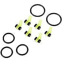 Forfar Beautyrain 10 Stück Haken Keeper Lockt Haken Angelrute Pole Gerät Kunststoff Keeper Halter Jig Schäkel Rock Rafting Einstellbar Einfach sicher