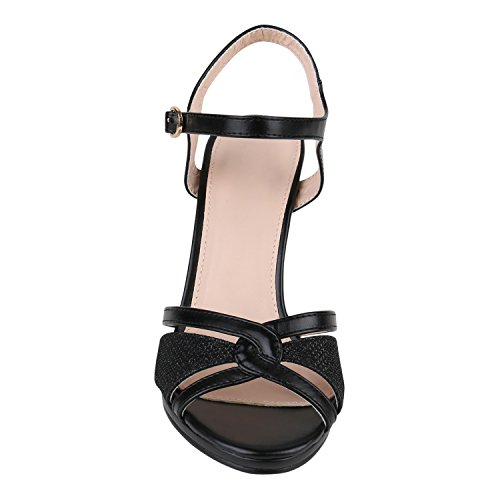 Party Damen Sandaletten | Glitzer High Heels | Plateau Sandaletten Strass Nieten | Damenschuhe Snake Lack | Stilettos Schnallen Schuhe Schwarz Glitzer Metallic
