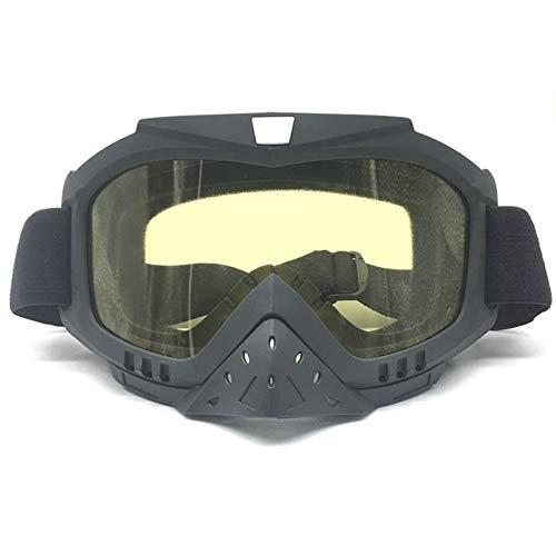 Anyeda Sportbrille für Herren TPU+PC Brille Schutzbrille für Solarien Gelb -