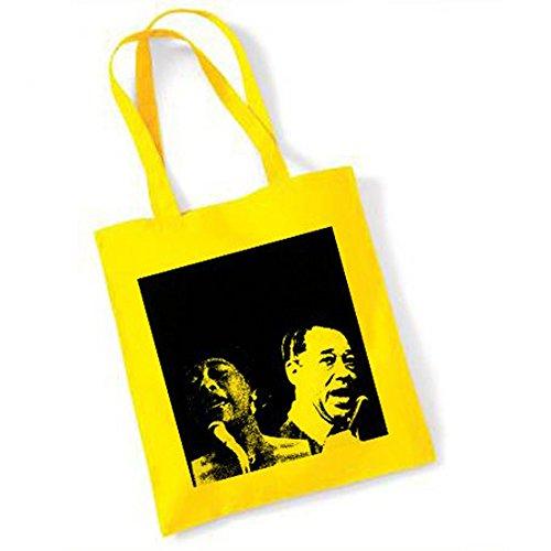 ella-fitzgerald-and-duke-ellington-yellow-tote-bag