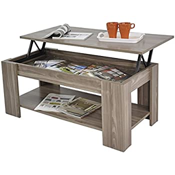 Kimberly Lift Up Top Coffee Table With Storage Shelf Choice Of Colour Walnut