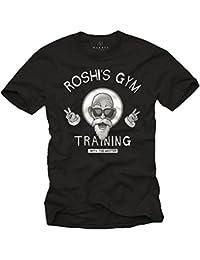 Rosh's Gym T-Shirt Homme Noir S-XXXL