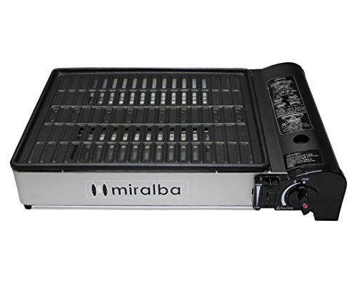 Miralba MC-320 - Plancha grill gas, 45 x 33 x 10 cm, color negro
