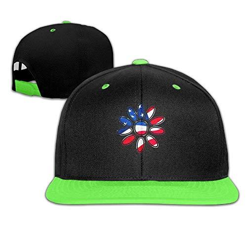 Adult Hip Hop Baseball Cap Hat Boys' Girl American Flag Daisy (Up Dress Daisy)