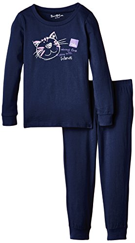 Ben & Lea Mädchen Zweiteiliger Schlafanzug, Gr. 122 (Herstellergröße: 122/128), Blau
