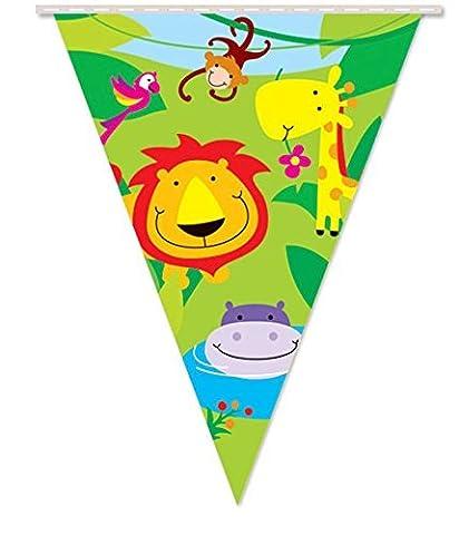 Jungle Theme Party Pennants Banner Girls Kids Childrens Birthday Zoo