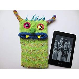 """S Readertasche""""Lilly"""", E-Book Hülle, Tasche, Monster, Tolino vision, Tolino Shine, Kindle Voyage, Unikat, gefilzt, Filz, Wolle, Geschenkidee"""