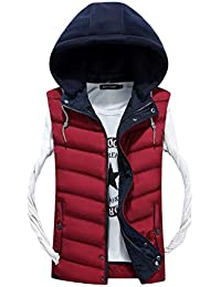 Chaleco De Invierno Cálido para Hombre Camisa De Modernas La De Moda Chaqueta Chaleco De Algodón