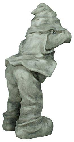 Dekofigur Wichtel Gnom Granit look Gartenfigur 32 cm Gartenzwerg Gartendekoration - 3