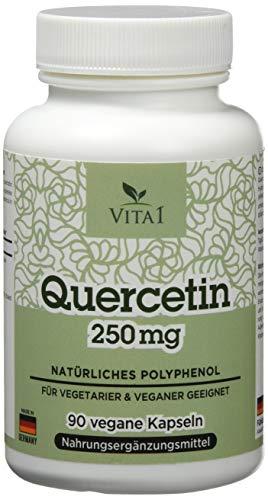 Grüner-tee-extrakt 30 Cap (Vita 1 Quercetin 250 mg 90 Kapseln (3 Monate Vorrat) Glutenfrei, vegan, koscher & halal, 33 g)