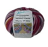 Sockenwolle 6-fädig SORT. 250 MERINO-COLOR Farbe 2233