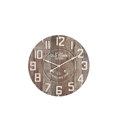 Horloge Factory Visuel Old Town Marron 92X5X92Cm