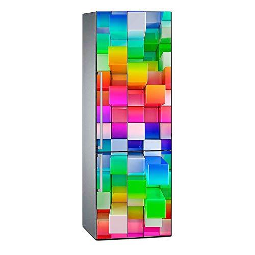 Oedim Pegatinas Vinilo Frigorífico Cubos Colores
