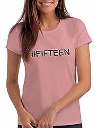 Da Londra Girls Hashtag#Fifteen 15th Birthday T Shirt Gift