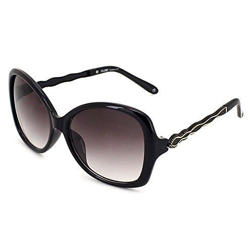 QUBE Women Square Sunglasses (Black)