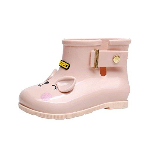 FeiliandaJJ Kinder Regen Stiefel, wasserdichte Gummistiefel Kinder Kinder Regen Schuhe (2.5-3T(13.8CM), Rosa) (Kleinkind Regen Stiefel Größe 6 Jungen)