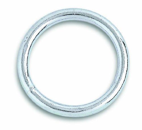 Chapuis VAS4 Lot de 2 anneaux soudes acier zingue D5MM Diamètre intérieur 40 mm