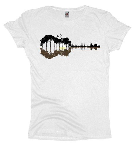 Ma2ca - Sounds from the Woods T-Shirt | Musik Gitarre Band Shirt -white-xl (Camping-gitarre)
