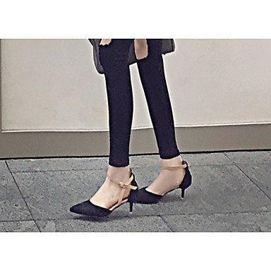 Talloni delle donne Primavera cinturino alla caviglia in PU fibbia tacco a spillo casual US7.5 / EU38 / UK5.5 / CN38