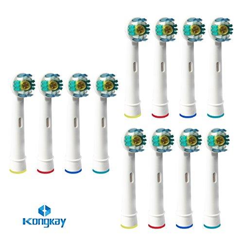 La Dental® 12 x Stück ERSATZ Zahnbürsten. 3D White Kompatibel mit Oral -Aufsteckbürsten ,kompatible Aufsteckbürsten Ersatzbürsten für Braun Oral B,3D & White