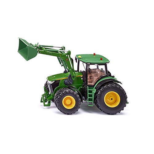 SIKU 6792, John Deere 7310R Traktor, Grün, Metall/Kunststoff, 1:32, Ferngesteuert, Steuerung mit App via Bluetooth, Ohne Fernsteuermodul