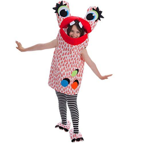 Nines d´Onil Kinder Kostüm Monster Glubschauge blau oder rot OneSize Fasching Karneval Spasskostüm (rot) (Nine D's Kostüm)