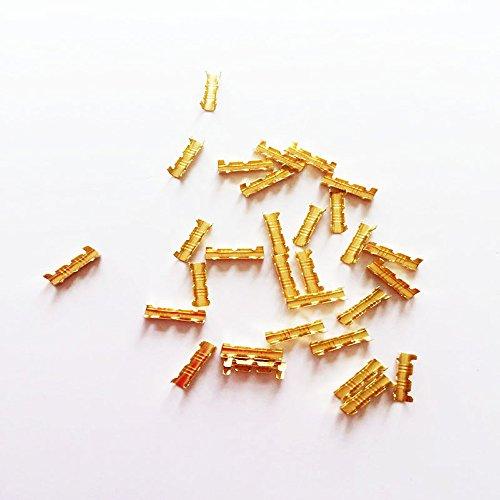 KKmoon 100 Stücke Gold U-Förmigen Messing Schnalle Terminal Docking Connector Linie Drücken Taste -
