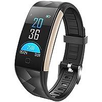 Pantalla a Color S2 Plus / T20 Bluetooth Elegante Reloj Pulsera de Monitor de presión Arterial de frecuencia cardíaca Pulsera de Deportes al Aire Libre a Prueba de Agua